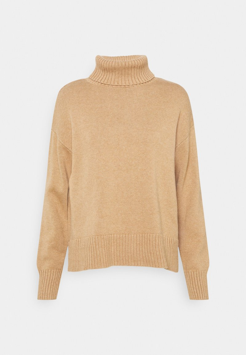 GAP - CROP OVERSIZED TNECK - Jumper - classic camel