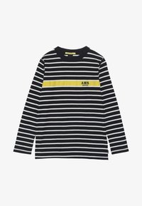 Scotch & Soda - LONG SLEEVE TEE WITH CONTRAST CHEST STRIPE - Long sleeved top - blue - 3