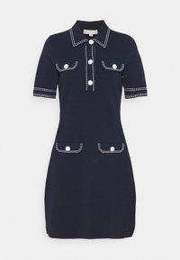 MICHAEL Michael Kors - CONTRAST STITCH BUTTON DRESS - Pletené šaty - midnight blue - 5