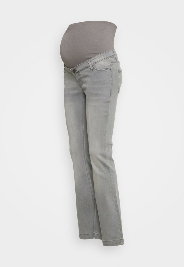 PANTS - Flared Jeans - grey denim