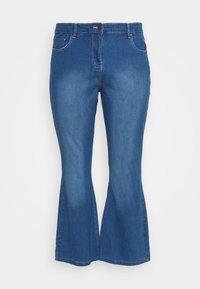 KIM HIGH WAIST SUPER SOFT BOOTCUT - Bootcut jeans - blue