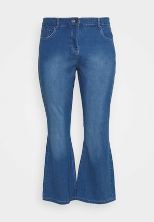 KIM HIGH WAIST SUPER SOFT BOOTCUT - Bootcut jeans - blue