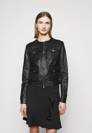 OTTUSO GIUBBINO - Leather jacket - black