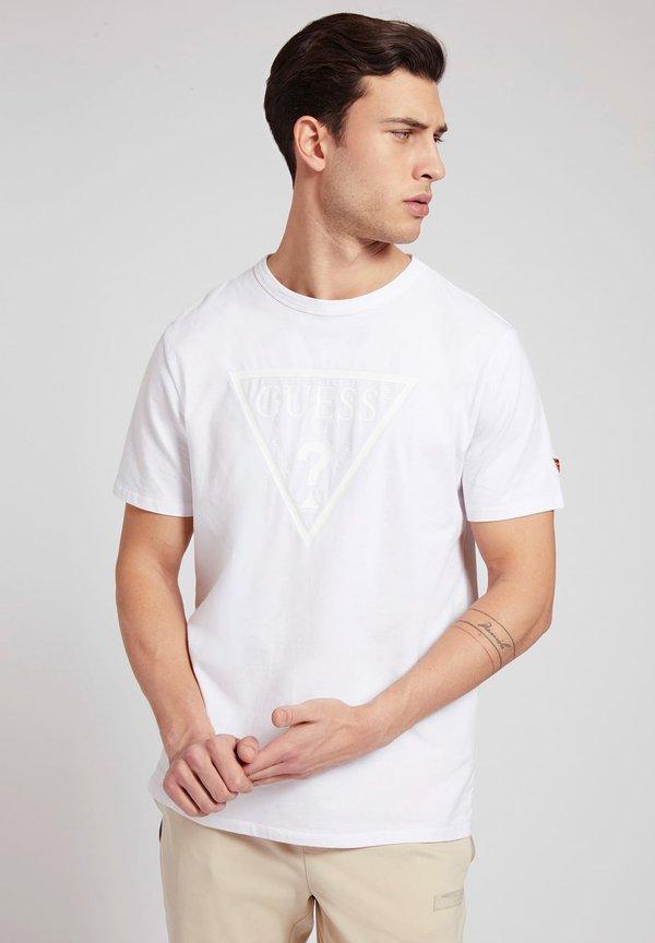 Guess T-shirt z nadrukiem - weiß/biały Odzież Męska ZUAJ