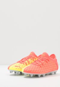 Puma - FUTURE 5.4 FG/AG - Moulded stud football boots - energy peach/fizzy yellow - 3