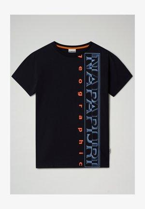 SADYR LOGO - Print T-shirt - blu marine