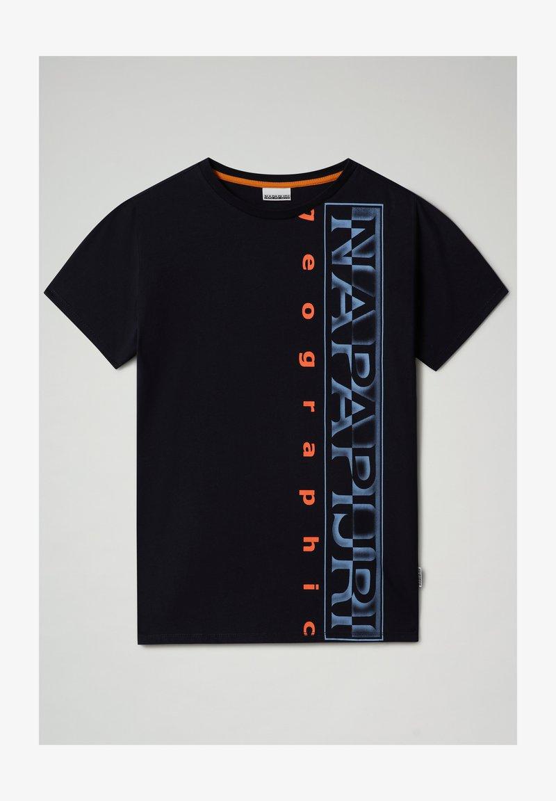 Napapijri - SADYR LOGO - T-shirt con stampa - blu marine