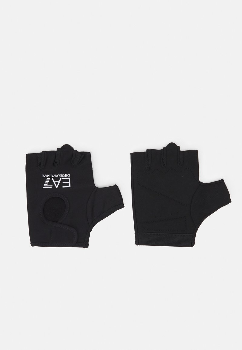 EA7 Emporio Armani - FITNESS GLOVES UNISEX - Fingerless gloves - black