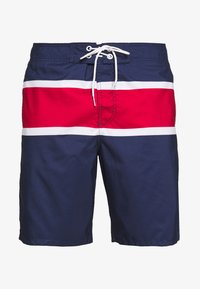 navy/white/red color block