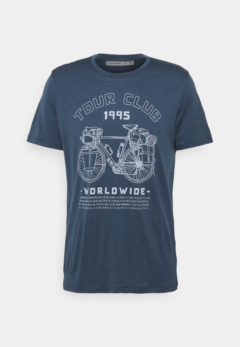 Icebreaker - TECH LITE CREW TOUR CLUB 1995 - Print T-shirt - serene blue