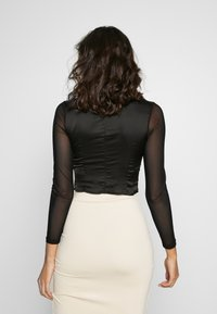 Missguided - LACE UP CORSET STYLE TOP - Langarmshirt - black - 2