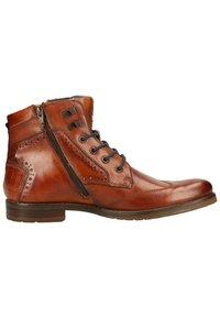 Bugatti - LUSSORIO - Lace-up ankle boots - cognac - 6