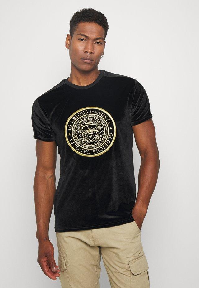 MARENO - Camiseta estampada - black