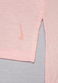 Nike Performance - YOGA LAYER TANK - Sportshirt - pink glaze/heather/white/rust pink - 4