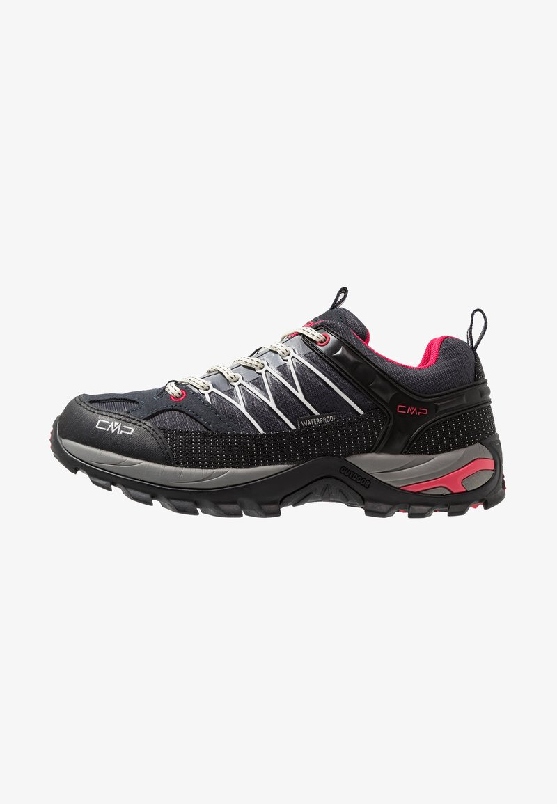 CMP - RIGEL LOW TREKKING SHOE WP - Hiking shoes - antracite/offwhite