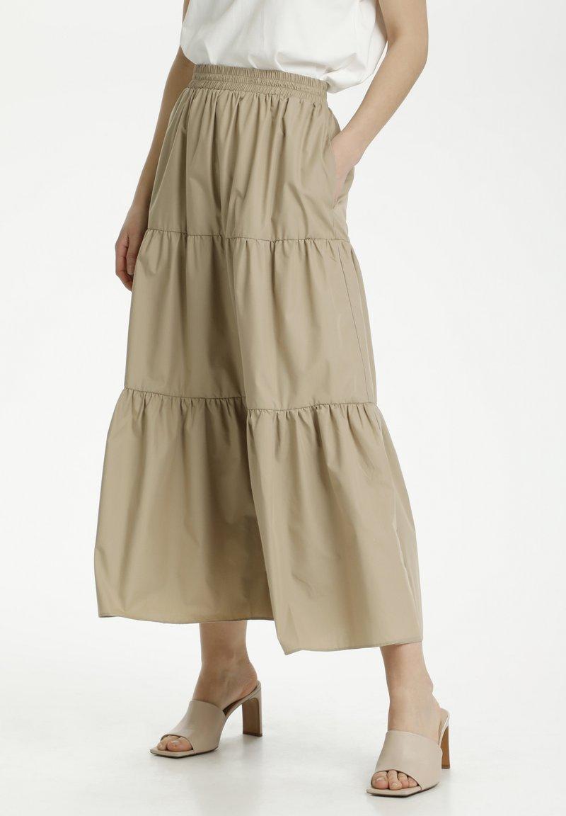 Kaffe - KAMOLLY - Maxi skirt - classic sand