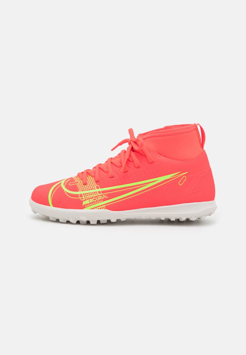 Nike Performance - MERCURIAL 8 CLUB TF UNISEX - Astro turf trainers - bright crimson/metallic silver
