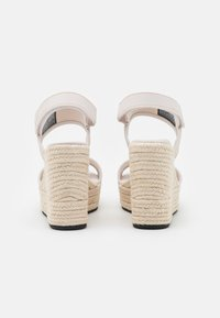 Calvin Klein Jeans - SLING CO - High heeled sandals - white/sand - 3