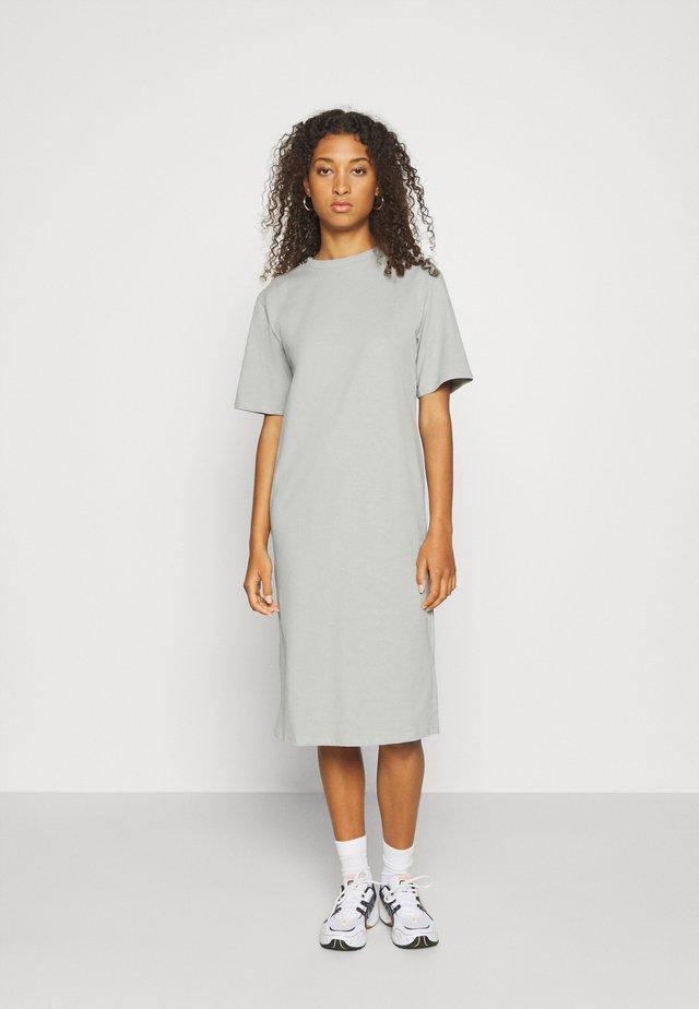 Basic midi Jerseykleid - Jerseyjurk - grey