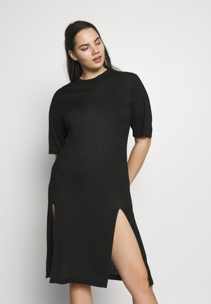 SIDE SPLIT - Robe pull - black
