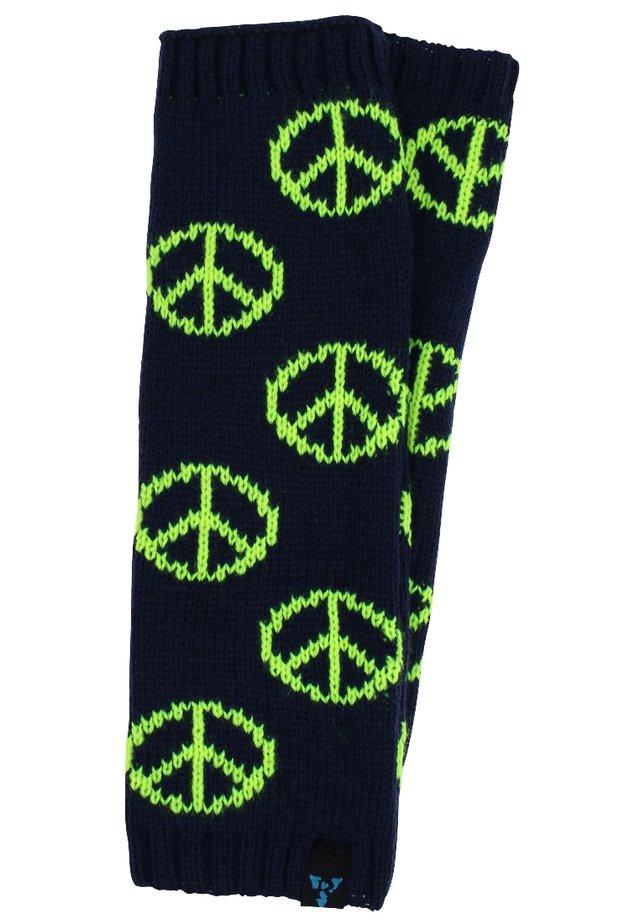 Leg warmers - peace - blau/neongelb
