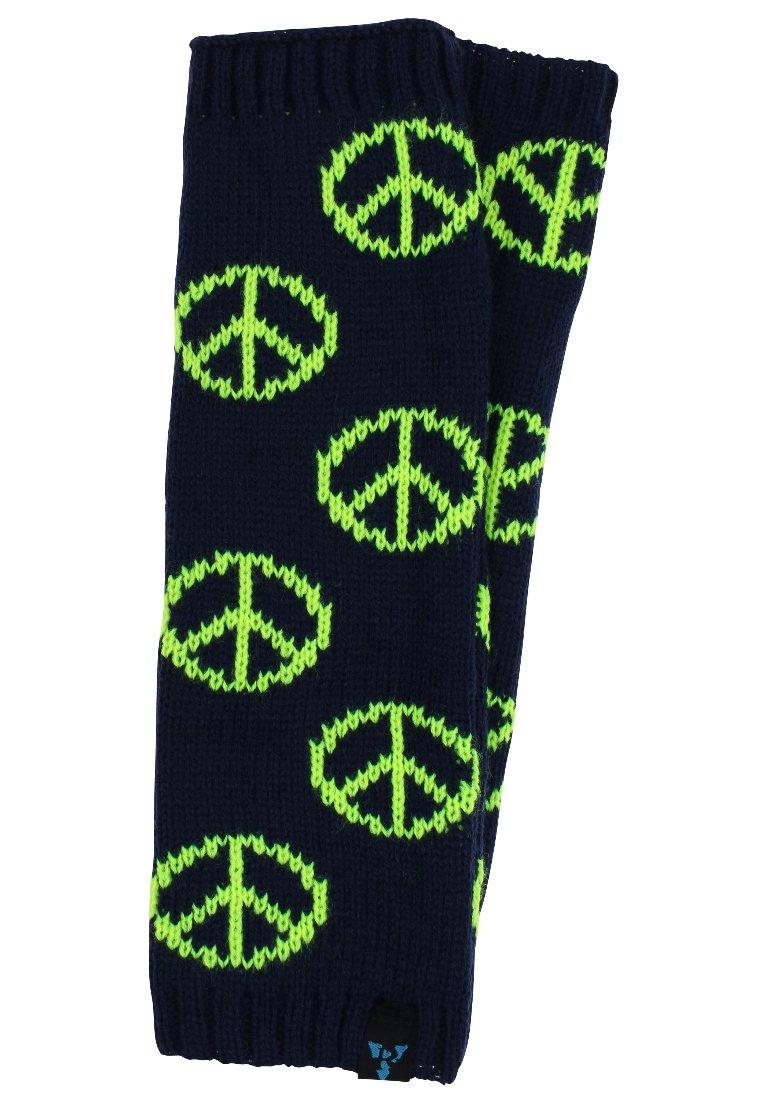 MyMo Accessories - Leg warmers - peace - blau/neongelb