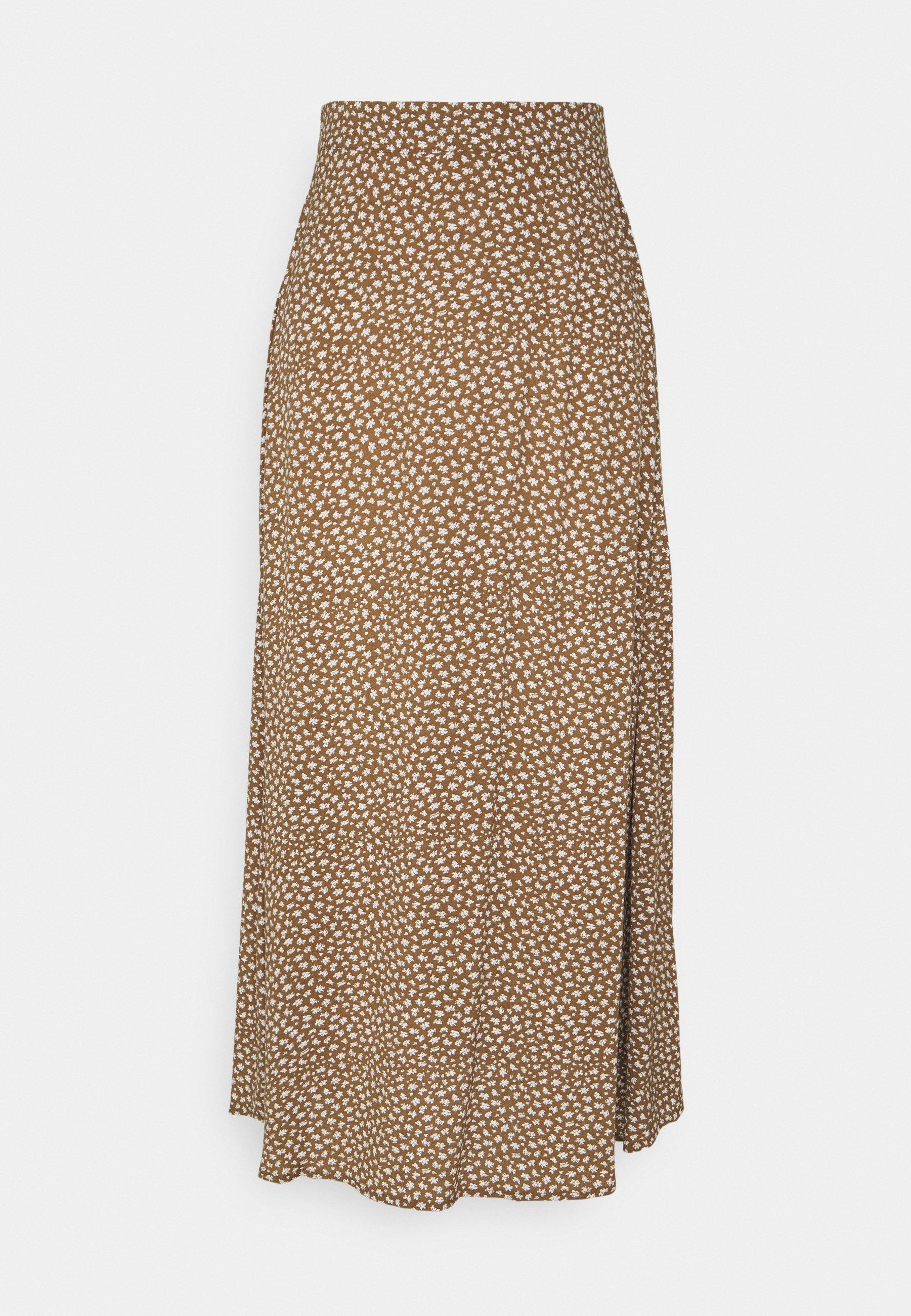 Women OBJBOBBI MIDI SKIRT - Maxi skirt