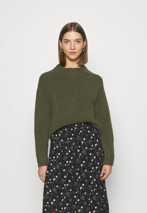 BASIC- SHORT JUMPER - Strickpullover - khaki