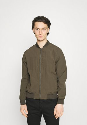 RESORT - Bomber Jacket - textured khaki