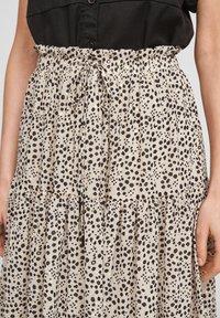 Q/S designed by - Maxi skirt - beige aop - 4