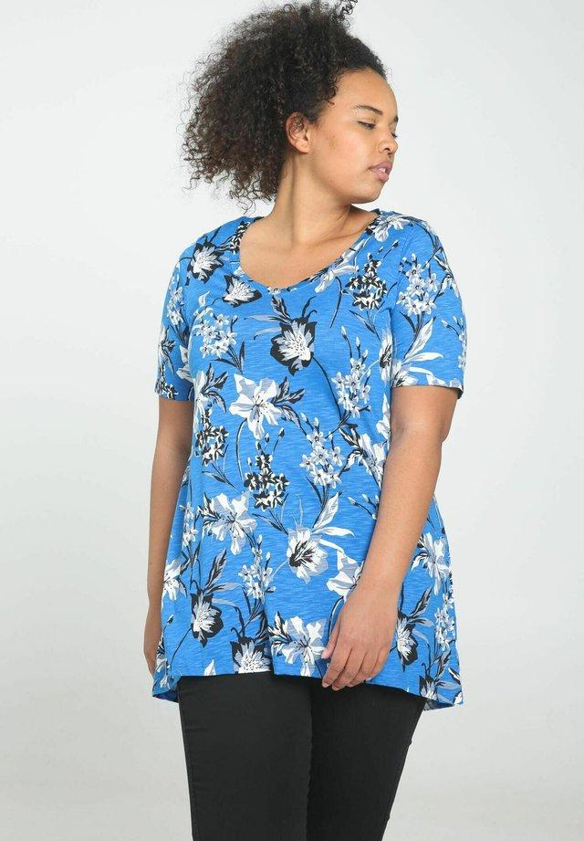 T-shirt med print - blue bic