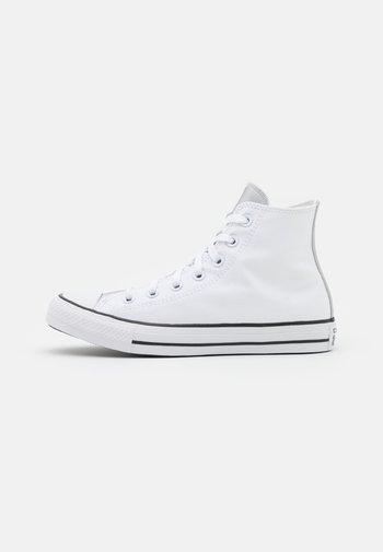 CHUCK TAYLOR ALL STAR MONO METAL - Høye joggesko - white/pure silver/black