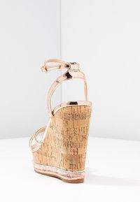 Office - HONCHO - Sandály na vysokém podpatku - rose gold - 5