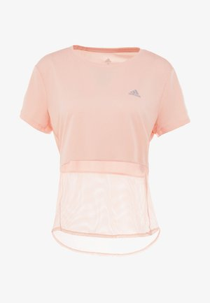OWN THE RUN TEE - Camiseta estampada - glow pink