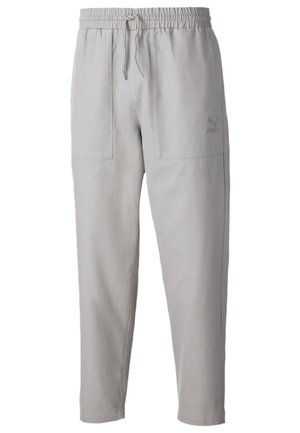 TAPERED WOVEN MEN'S CHINO PANTS MALE - Tracksuit bottoms - flint gray