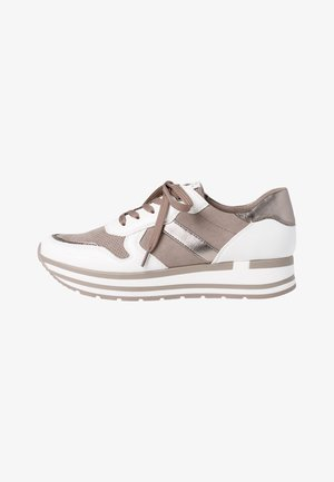 Trainers - white/taupe c.