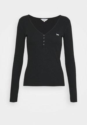 HENLEY - Langærmede T-shirts - black