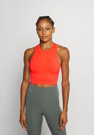 ONPJASE CIRCULAR CROPPED - Funktionsshirt - fiery coral