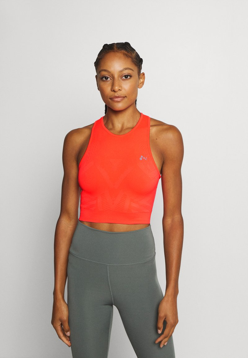 ONLY Play - ONPJASE CIRCULAR CROPPED - Camiseta de deporte - fiery coral