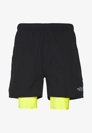 MENS FLIGHT BETTER THAN NAKED CONCEPT SHORT - Sports shorts - black/lemon