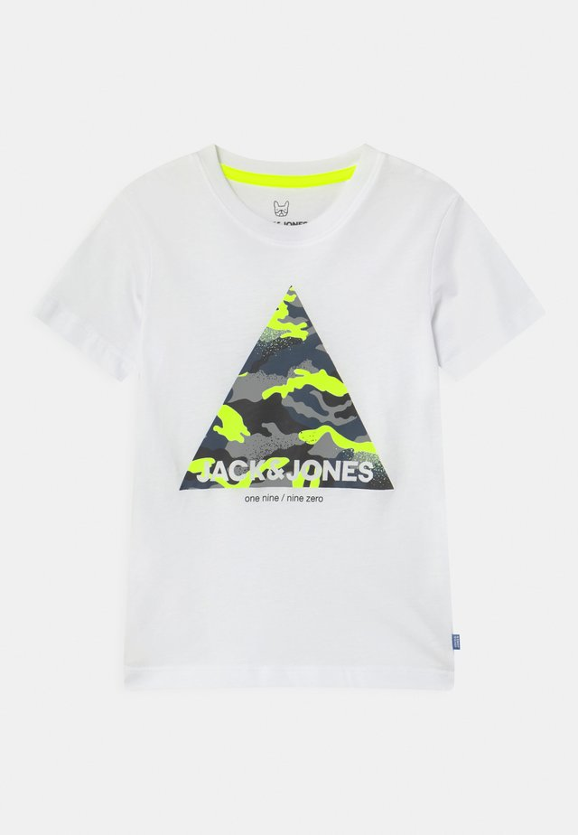 JJPRIME CREW NECK - Camiseta estampada - white