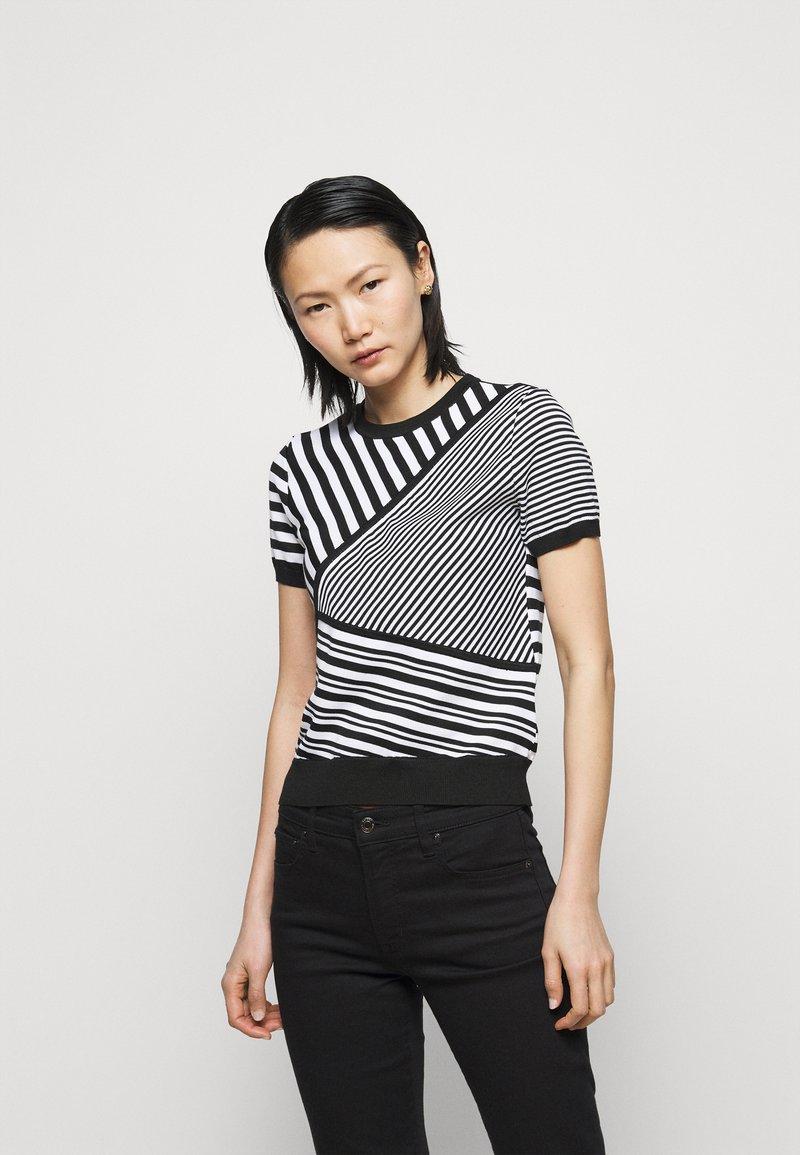 Lauren Ralph Lauren - Print T-shirt - black/white