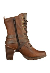 Mustang - Lace-up ankle boots - brown - 6
