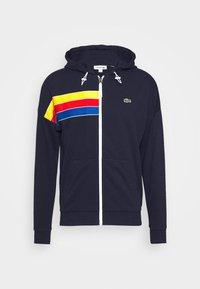 Lacoste Sport - RAINBOW JACKET - Zip-up hoodie - navy blue/wasp/gladiolus/utramarine/white - 3
