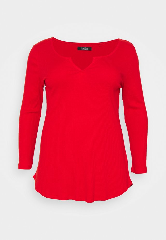 NOTCH FRONT - T-shirt à manches longues - red