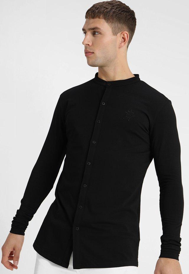 SIGNATURE LONG SLEEVE GRANDAD - Shirt - black