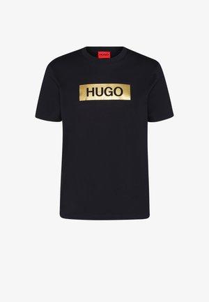 DIRAGOLINO METALLIC UNISEX - T-shirt imprimé - black/gold