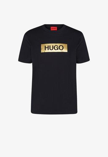 DIRAGOLINO METALLIC UNISEX - Camiseta estampada - black/gold