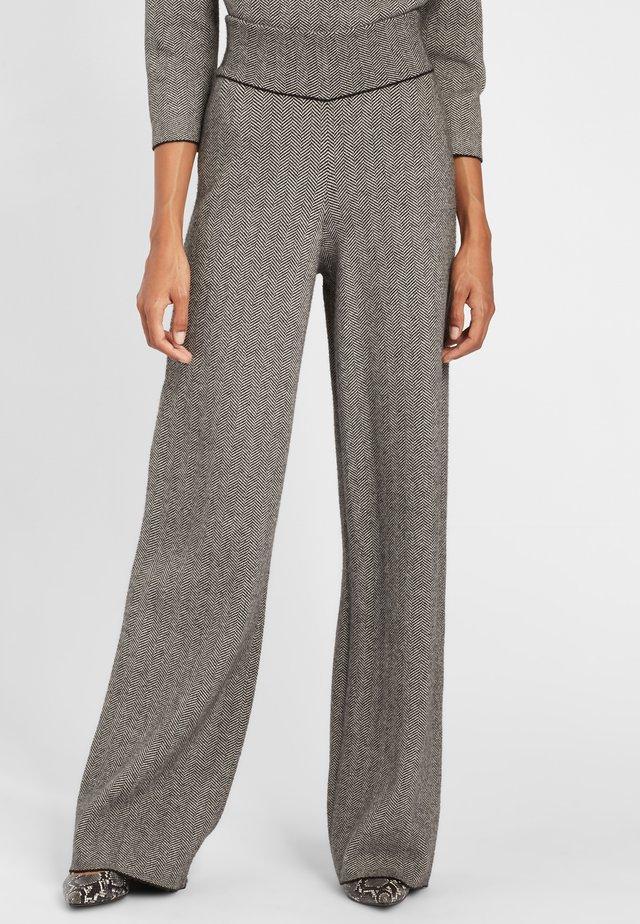 Trousers - grau/schwarz