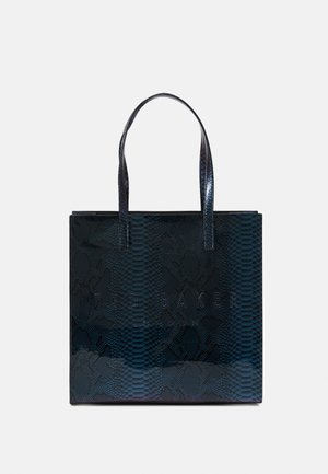 JEMACON HOLOGRAPHIC IMITATION SNAKE LARGE ICON - Tote bag - blue